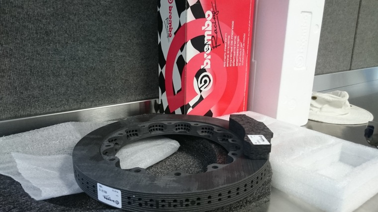 Brembo Racing IndyCar Carbon racing discs & pads
