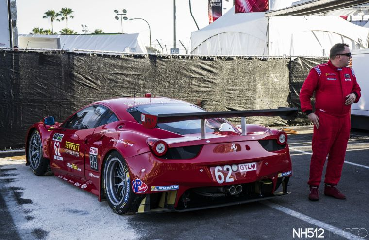 Risi Competizione Ferrari 458 GTLM/GTE equipped with Brembo racing brakes.