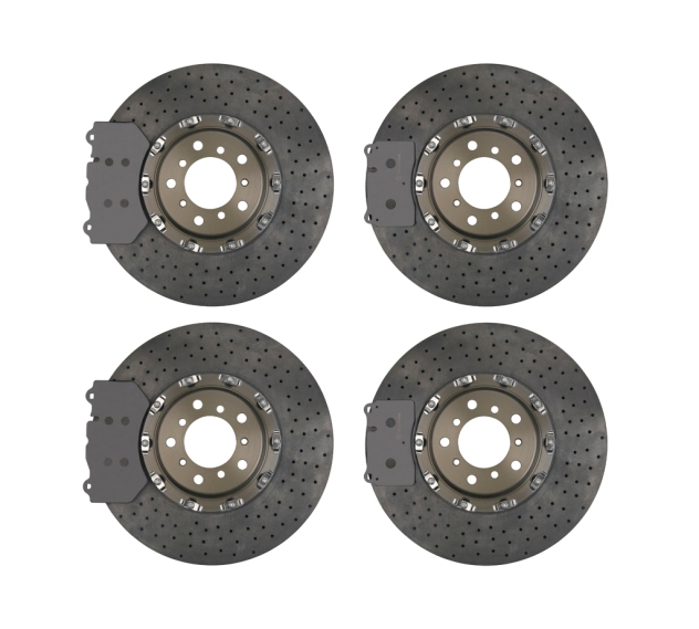 Brembo CCM-R discs pre-bedded and matched to specific friction materials.