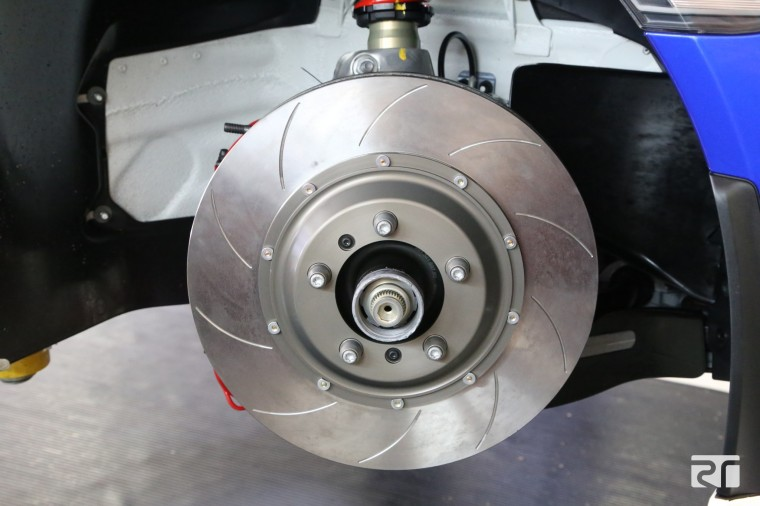 Brembo 2-piece disc assembly fitted