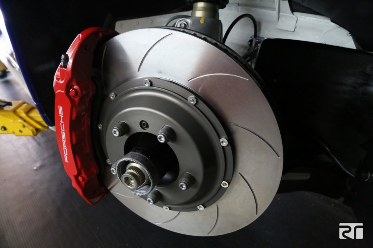 Brembo 2-piece disc assembly installed