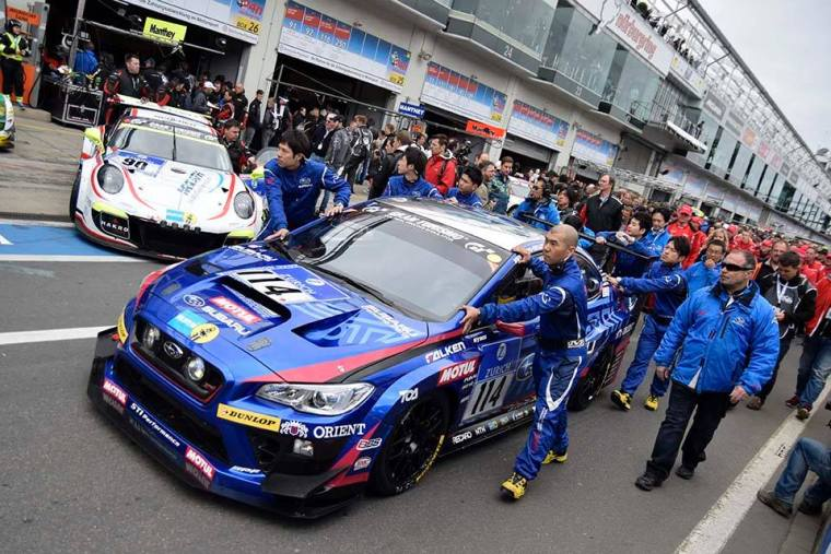 2015 Nurburgring 24 - SP3T Class winning Subaru WRX STI NBR equipped with Brembo brakes. Photo Credit: Subaru Global