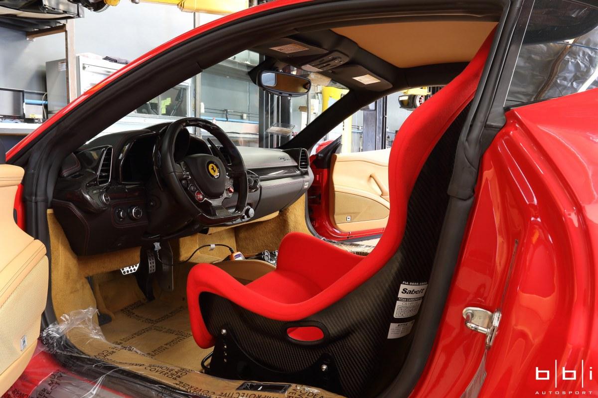 "Ferrari 458 ""Street Challenge"" 90 LBS Weight reduction"