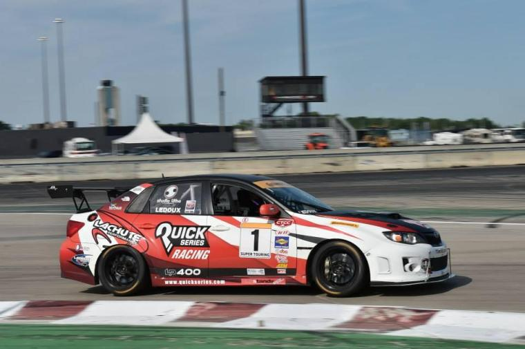 LP Motorsport STi competing in Canadian Touring Car Series. Photo: Lachute/LP Motorsport