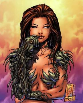 A Witchblade piece Jon Sibal inked over with Marc Silvestri back in the days